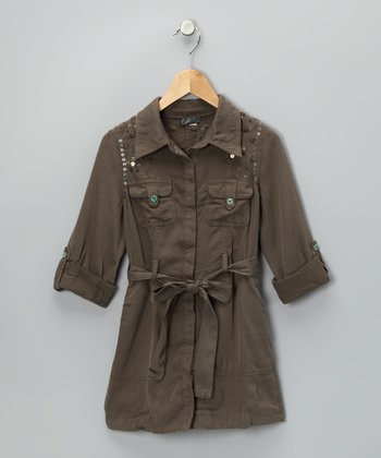 Ash Silk-Blend Shirt Dress - Girls