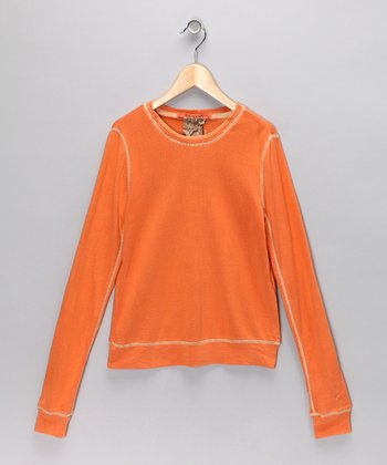 Orange Silk Tee - Girls