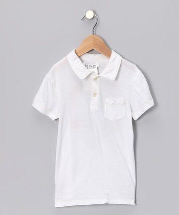 White 'California' Rainbow Polo - Girls