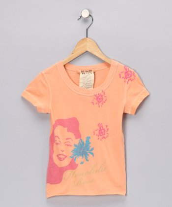 Tangerine Honolulu Tee - Girls