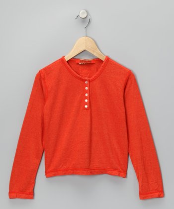 Tangerine 'Love' Henley - Girls
