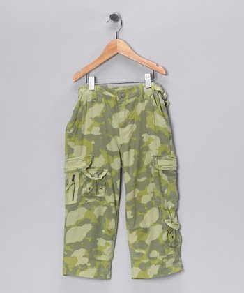 Ibiza Camo Silk Capri Pants - Girls