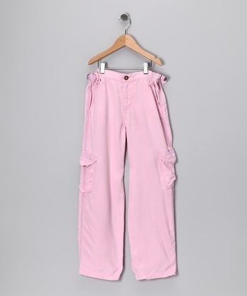 Bubblegum Silk Cargo Pants - Girls