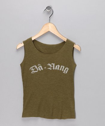 Olive Green 'Da-Nang' Tank - Girls