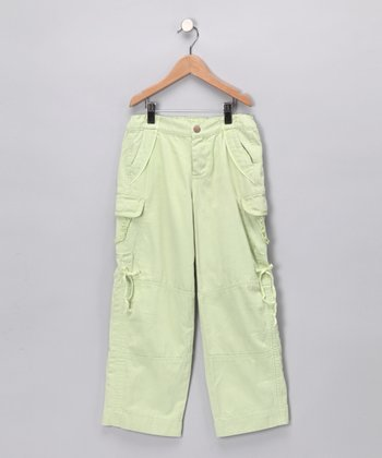 Pistachio Cargo Pants - Girls