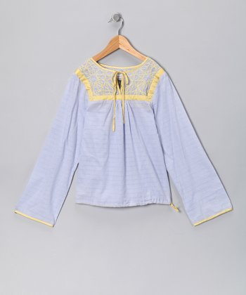 Violette Starburst Peasant Top