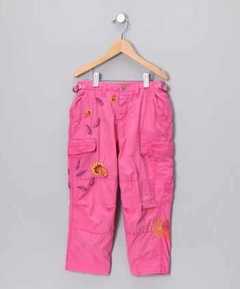 Hot Pink Caribbean Cargo Pants - Girls
