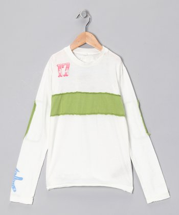 Birch '17' Knit Tee - Girls