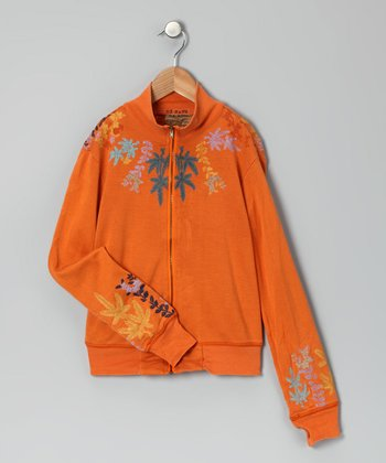 Koi Silk Zip-Up Jacket - Girls