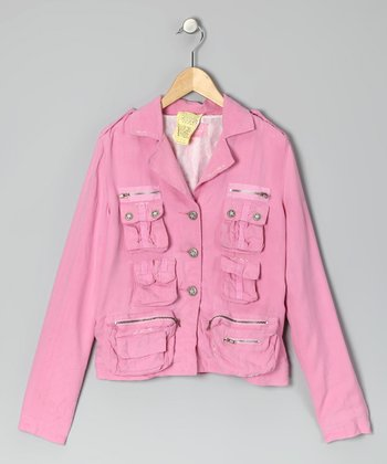 Cotton Candy Pink Silk Blazer