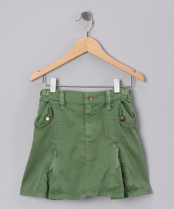 Avocado Woven Skirt - Girls
