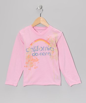 Bubblegum Pink 'California' Tee - Girls