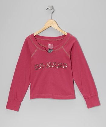 Fuchsia 'Da-Nang' Button Top - Toddler & Girls