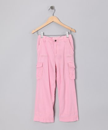 Carnation Woven Cargo Straight-Leg Pants - Toddler