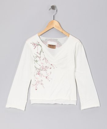 Birch Garden V-Neck Top - Girls