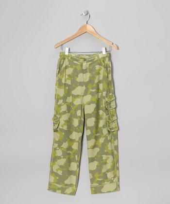 Parachute Camo Silk-Blend Cargo Pants - Girls