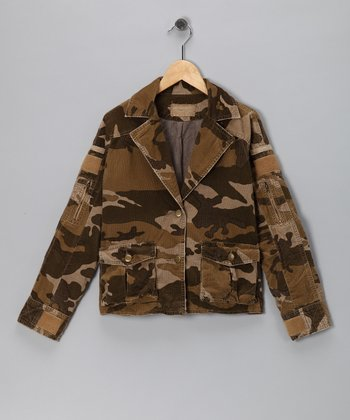 Brown Camo Blazer