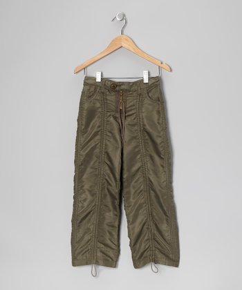 Fennel Green Jungle Pants - Girls