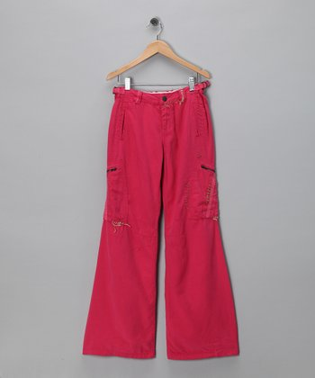 Magnolia Stitch Silk-Blend Woven Pants - Girls