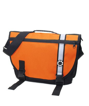 Retro Stripe Orange Messenger Diaper Bag