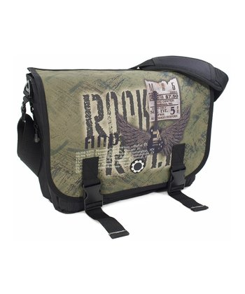 Classic Rock Messenger Diaper Bag