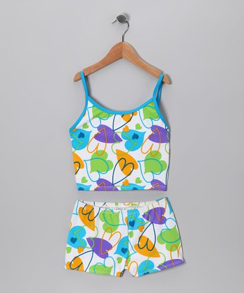 Blue Heart Tankini - Girls