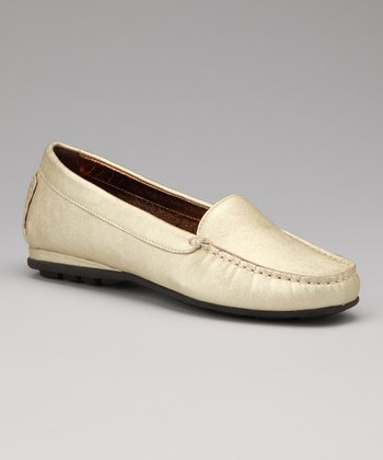 Gold Metallic Holly Loafer