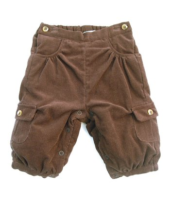 Darcy Brown Chocolate Corduroy Cargo Pants - Infant