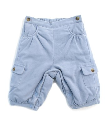 Darcy Brown Dusk Blue Corduroy Cargo Pants - Infant & Toddler