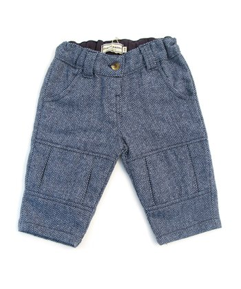Darcy Brown Blue Herringbone Pants - Infant, Toddler & Boys