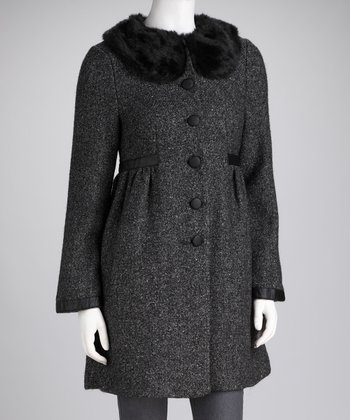 Charcoal Cordella Wool-Blend Coat