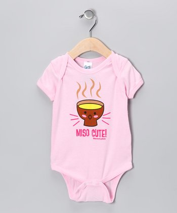 Pink 'Miso Cute' Bodysuit - Infant