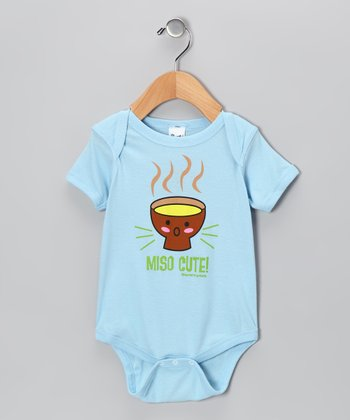 Light Blue 'Miso Cute' Bodysuit - Infant