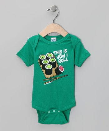 Kelly Green 'This Is How I Roll' Bodysuit - Infant