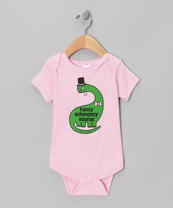 Raspberry 'Fancy Schmancy' Dino Bodysuit - Infant