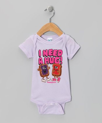 Lilac 'I Need A Hug!' Bodysuit - Infant
