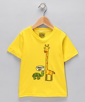 Lemon Zest 'What's Up?' Tee - Toddler & Kids