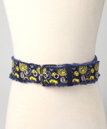 Navy Knockout Tweed Belt