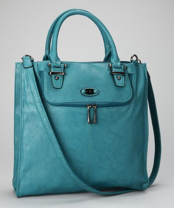 Peacock Blue Divided Tote