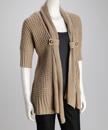 Sahara Thermal-Knit Open Cardigan