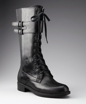 Black Leather Montana Boot