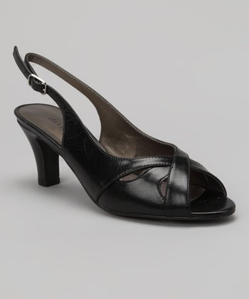 Black Nappa Softy Slingback Sandal