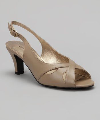 Taupe Nappa Softy Sandal