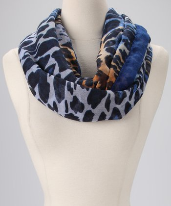 Blue Safari Infinity Scarf