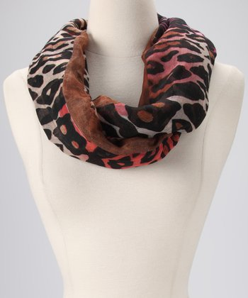 Brown Safari Infinity Scarf