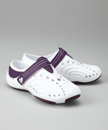 White & Plum Spirit Shoe
