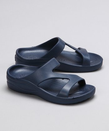 Navy Sandal - Girls