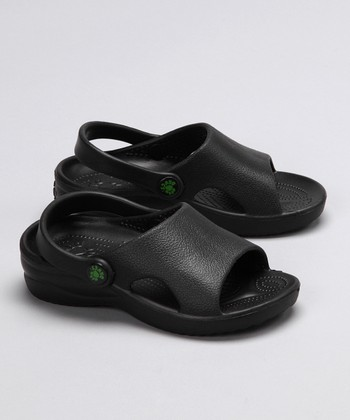Black Heel-Strap Sandal - Girls & Boys