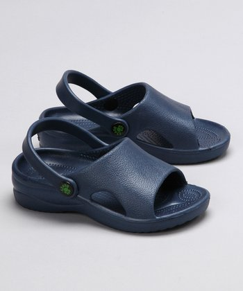 Navy Heel-Strap Sandal - Girls & Boys
