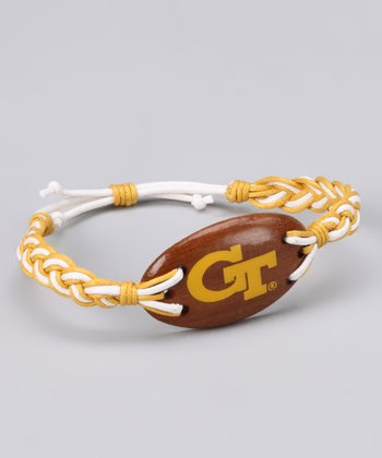 Gold & White Georgia Tech Cord Bracelet - Women
